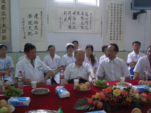 吴孟超院士来到福州伟达中医肿瘤医院